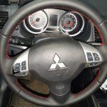 Перетяжка руля Mitsubishi Lancer 10(митсубиси Лансер10_)(07-10 до рестал.)ручки КПП и кулисы,подлокотник